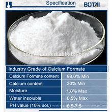 Formiato de cálcio para argamassa seca da indústria