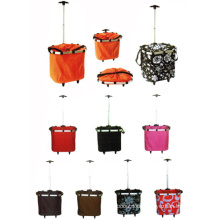 Factory Direct Sell Fabric Shopping Baskets with Wheels (SP-325)