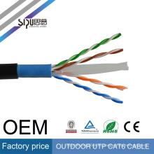 SIPU 2017 popular tipo al por mayor mejor precio 0.5 CCA al aire libre utp cat6 lan cable