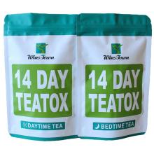 Custom wholesale weight loss tea Private Label Fast Skinny Flat Tummy detox 14 day slim green teatox tea