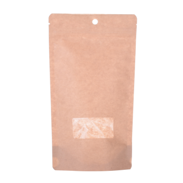 Torby Kraft Stand Up Pouch with Zipper