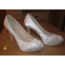 Nova moda salto alto peep toe sapatos das senhoras (hcy02-1603)