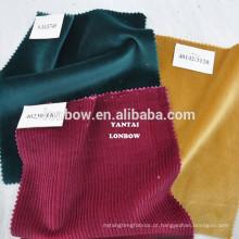 Tecido vermelho Royal 100% algodão tecido de veludo em estoque pequeno moq
