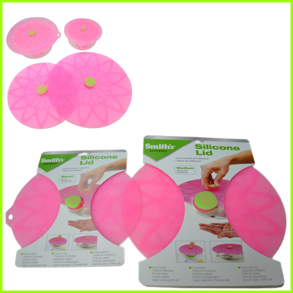 Set Of 4 Round Silicone Pan Lid Set