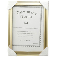 Golden A4 Document Frame