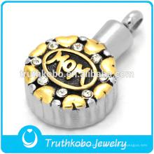 Colgante de oro rudraksha para mamá en acero inoxidable para mayor