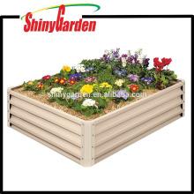 Kit de cama de jardín de metal levantado - Caja de plantador elevada Rectangular para cultivo de hierbas, verduras, flores, material de estaño