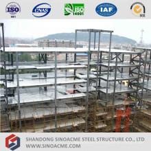 Edificio de oficinas de estructura de acero de varios pisos