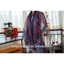 Neuester modischer klassischer bedruckter länglicher Schal Schal und bestverkaufter Twill Chiffon Schal
