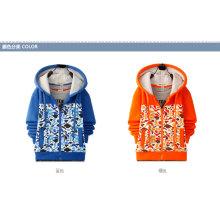 Camisola do menino do algodão / poliéster com a capa para o inverno (bc002)