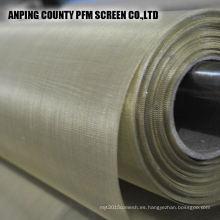 Altamente transparente y conductivo puro de 172 micrones malla de alambre de cobre rojo