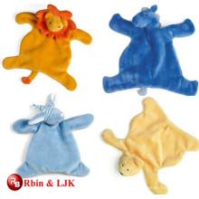 La manta animal del bebé de la felpa encantadora promocional de encargo