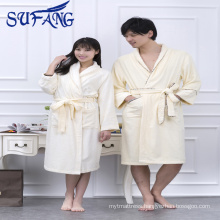 Alibaba Cheap hotel bathrobe bamboo fiber bathrobe made in China new design Bamboo bathrobe