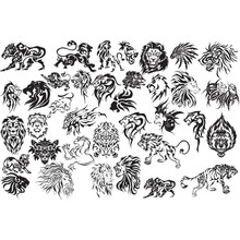 High Quality Fashion design customized temporary single color tattoo sticker