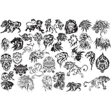 High Quality Fashion design customized temporary single color tattoo sticker