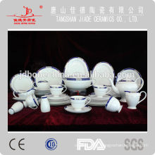 2014 ventas calientes ecológico de hueso fino de China cena de cristal conjunto hecho en China