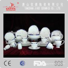 2014 vendas quentes eco-friendly multa osso china jantar conjunto de vidro feito na China