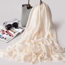 Belle longue et confortable écharpe de lin hijab imprimé personnalisé confortable