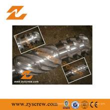 Fabrication de vis et de barils bimétalliques pour machine à extruder en plastique