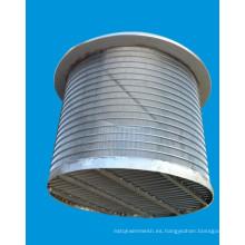 Tubo del filtro de malla de alambre / Johnson Tipo Pantalla del pozo