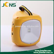 MP3 FM Radio Multi-funcional 6V 4500MAH solar powered lanterna