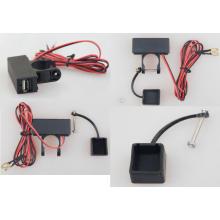 Puerto USB Cargador / toma de corriente con cable / interruptor para motocicleta
