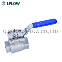 1000psi Wog 2PC Ball Valve Thread Connection with Direct Mounting Pad ISO5211