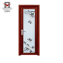 2018 alibaba listo hecho nuevo diseño puerta de baño de aluminio
