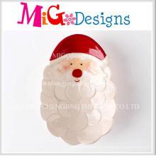 Plaque et plat de cadeau de Noël en céramique de haute qualité de promotion