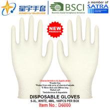 Weiße Farbe, Puderfrei, Einweg-Nitril-Handschuhe, 100 / Box (S, M, L, XL) mit CE. Exam Handschuhe