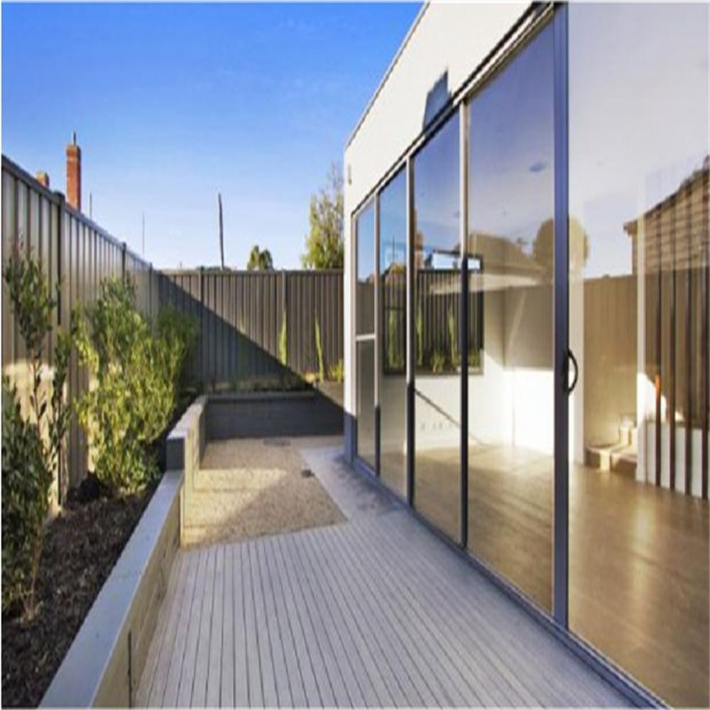 Aluminum Tilt Sliding Doors with Built-in Blind