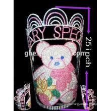 Coroa encantos coroa dobradiça plástico princesa tiaras alta qualidade extrato de flor da coroa de espinhos