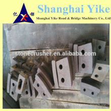 Pièces de rechange pour fabricant de sable VSI plaque latérale