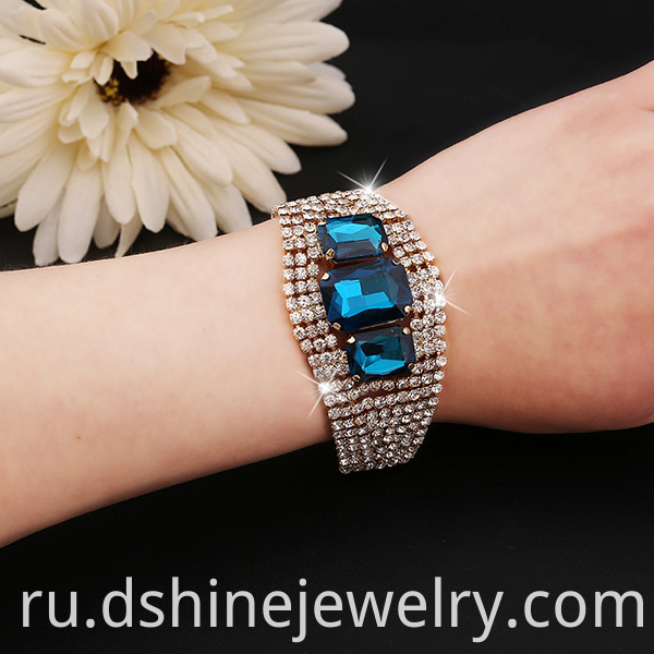 Stretch Crystal Bangle Bracelet