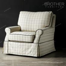 Mobilier d'accueil moderne siège unique chaise pivotante massage tissu canapé