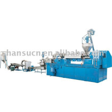 Extrusion line for granulation from recycled waste film