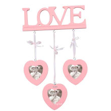 Cute Heart Shape MDF Picture Frame for Home Deco