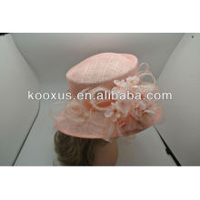 Pink ladies sinamay church hat for occassional use