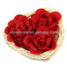 Rose fleur en fleurs/savon savon papier décoration salle de bain