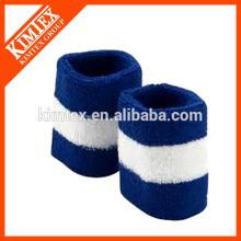 Terry cotton cheap custom wholesale striped color wrist sweatbands