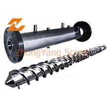 Barril de un solo tornillo Sjz45 para maquinaria de tubería de HDPE