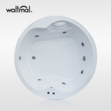 Round Acrylic Drop-in Bathtub in White