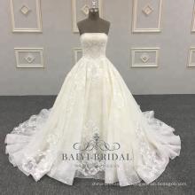 Vestido de novia de satén de alta calidad del vestido de bola Vestidos de novia 2018