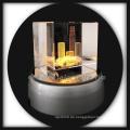 3D Laser geätzten Kristall Buddilng Kristall Geschenke basteln drehen led Sockel
