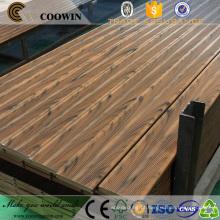 Superfície do sulco anti-derrapante anti-uv fácil instalar deck de madeira composto de plástico (wpc) marina de madeira