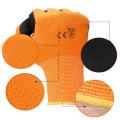 Luvas revestidas do trabalho do látex da visibilidade alta Luvas protectoras da segurança confortável da espuma do Handiness da resistência