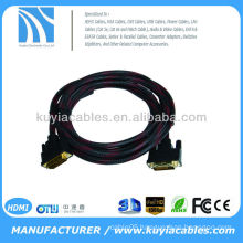 10 FT DVI-D Digital to DVI-D Male Monitor Video Cable gold plated nylon net