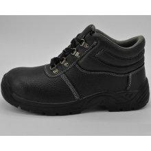 Homens que trabalham calçados de segurança antiestáticos do dedo do pé de aço do couro