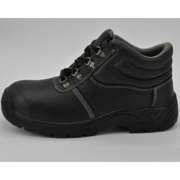 Zapatos de seguridad antiestáticos con punta de acero para hombres que trabajan con cuero