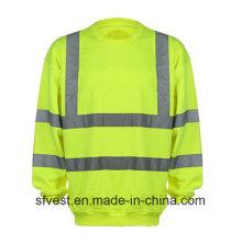 Kundenspezifische Sicherheit Reflektierende Hoch sichtbare Sweatshirt mit En ISO